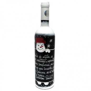 Sticla vin festiva pentru Craciun