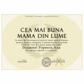 Diploma Cea mai buna mama