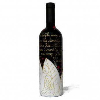 Sticla de vin romantica