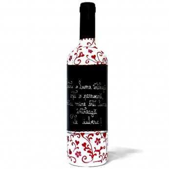Sticla vin Pictata pentru Indragostiti
