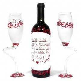 Set vin personalizat pentru iubit