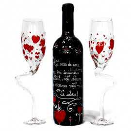 Set de vin personalizat I love you