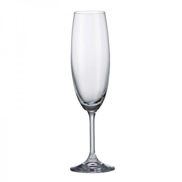 Klara 220 ml Set 6 pahare cristal sampanie