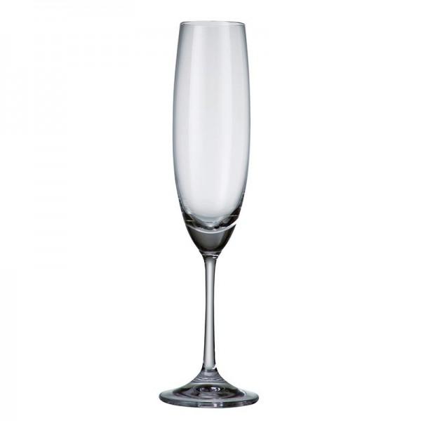 Barbara 220 ml Set 6 pahare cristal sampanie