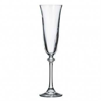 Alexandra optic 220 ml Set 6 pahare cristal sampanie