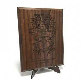Placheta lemn Copacul familiei