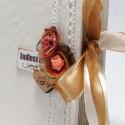 Cutie piele handmade cu mesaj gravat