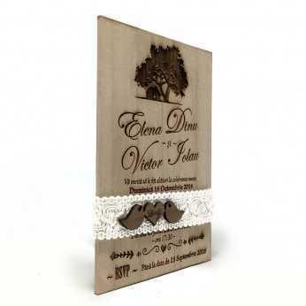 Invitatie de nunta gravata Dream House
