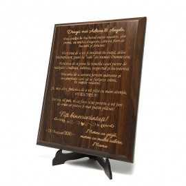 Placheta lemn Cadou nunta din partea Mamei