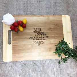 Tocator de lemn personalizat Cadou pentru Cuplu