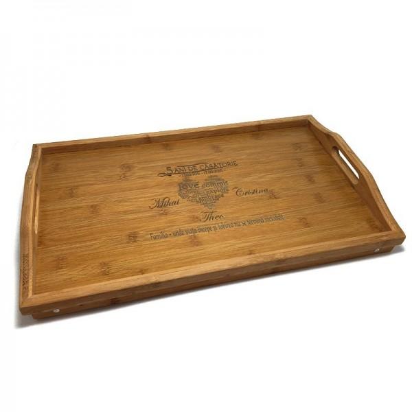 Tava personalizata Cadou aniversare Nunta de lemn