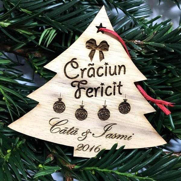 Ornament de Craciun personalizat