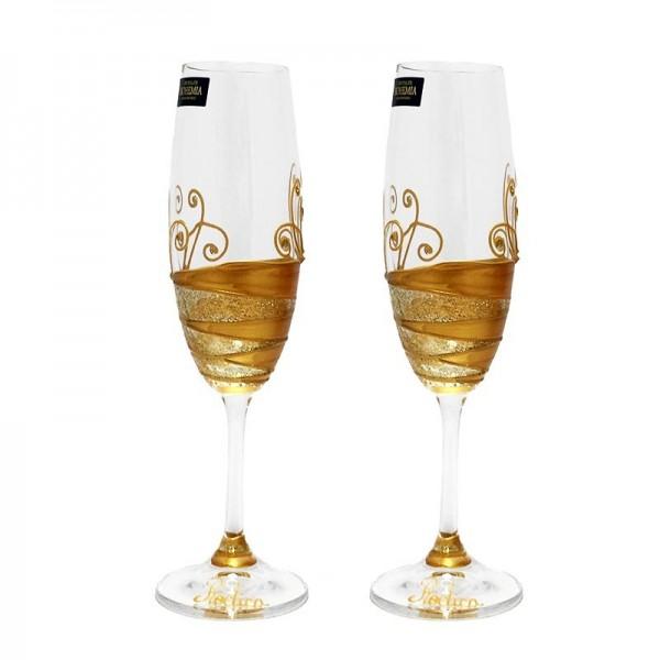 Pahare cristal Bohemia Golden Love