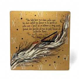 Cadou pentru Tata Ceas pictat cu mesaj