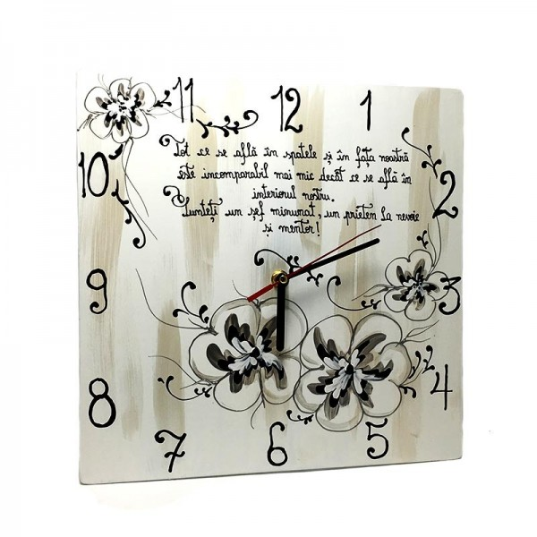 Ceas pictat Cadou de Sarbatori pentru Sefa