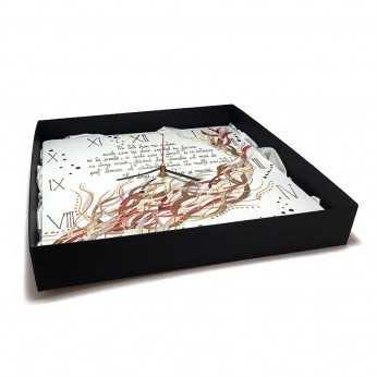 Ceas pictat de Craciun in cutie cadou gravata