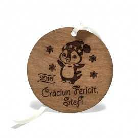 Decoratiune de Craciun din lemn natural