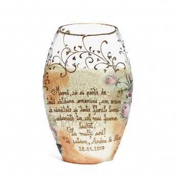 Vaza pictata Cadou de ziua Mamei