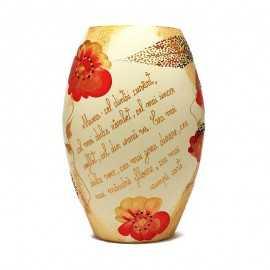 Vaza pictata cu mesaj de 8 Martie