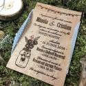 Invitatie pe lemn Flower Jar
