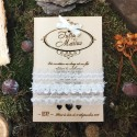 Invitatie de lemn gravata Pure Love