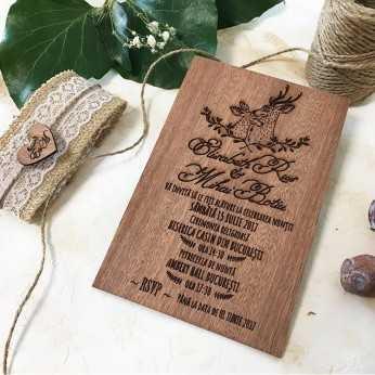 Invitatie originala de nunta Soul Mates
