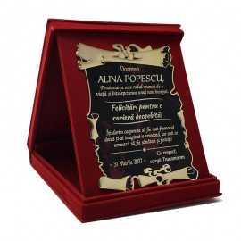 Diploma cu mesaj de pensionare
