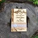 Invitatie gravate pe lemn Copacul iubirii