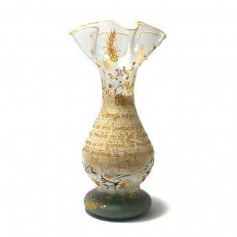 Vaza pictata cu mesaj pentru nasii de botez