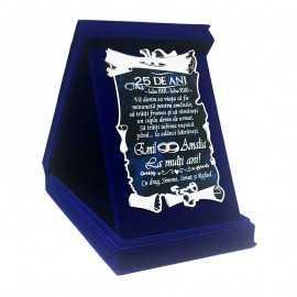 Cadou gravat cu mesaj pentru Nunta de Argint