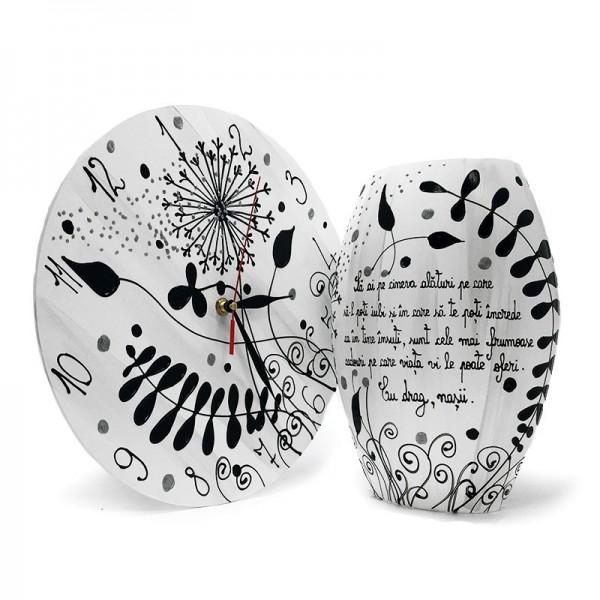 Set cadou pentru Fini vaza si ceas