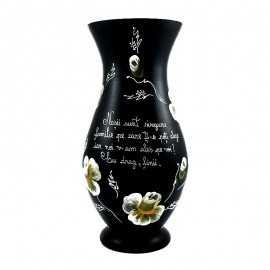 Vaza pictata cu mesaj de la fini