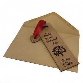 Semn de carte din lemn personalizat