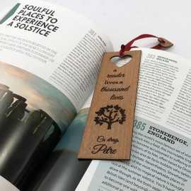 Semn de carte personalizat din lemn