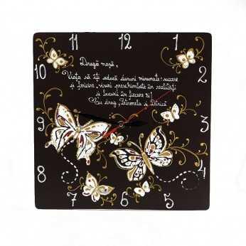 Ceas pictat cu mesaj pentru Nasa de Nunta