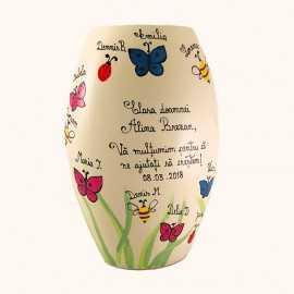 Vaza pictata cadou invatatoare