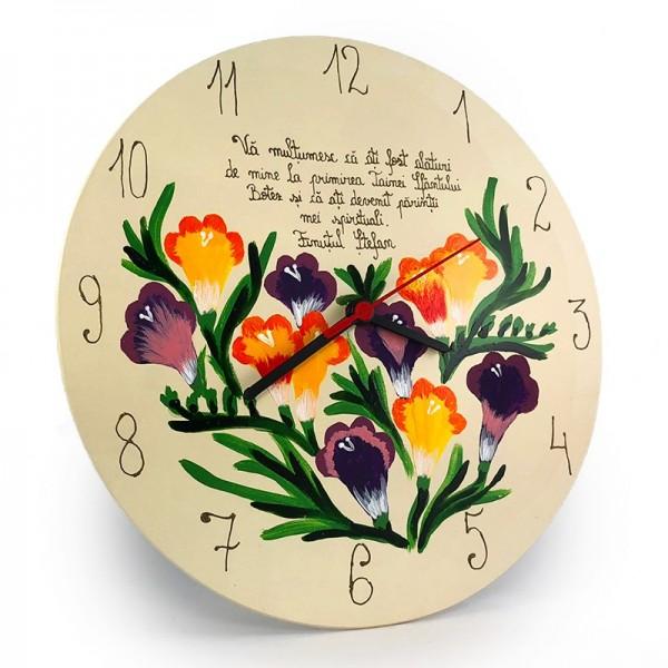 Cadou penru nasi pictat cu Flori de Frezie