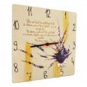 Ceas pictat cu Lavanda cadou pentru miri