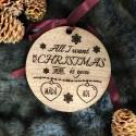 Decoratiune lemn All I want for Christmas