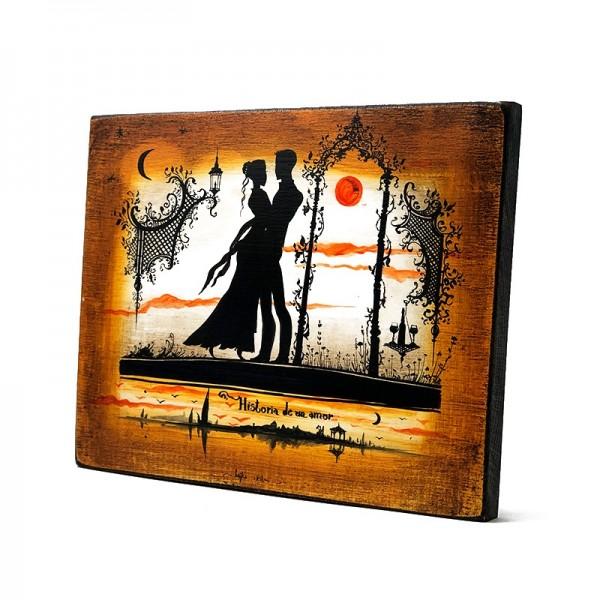 Cadou pictat Povestea unei iubiri