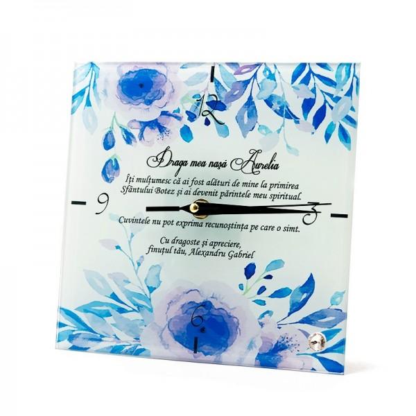 Ceas personalizat cadou de la finut pentru nasa