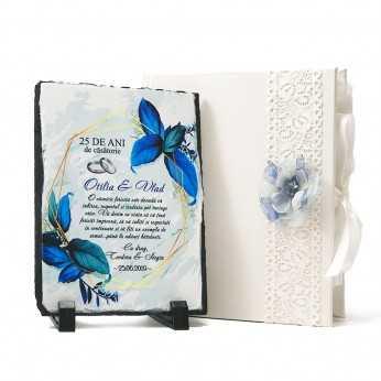 Cadou aniversare nunta Blue Flower