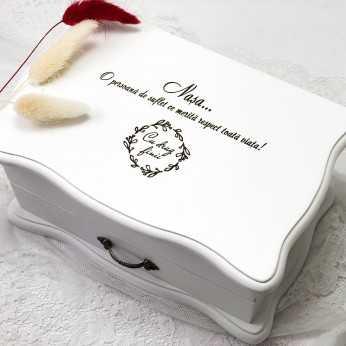 Cutie bijuterii cu mesaj pentru nasa