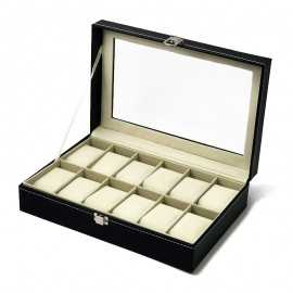 Cutie piele pentru 12 ceasuri barbati