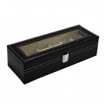 Cutie 6 ceasuri din piele personalizata