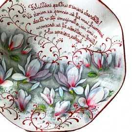 Set cadou pensionare cu magnolii
