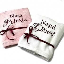 Prosoape baie personalizate cadou nasi
