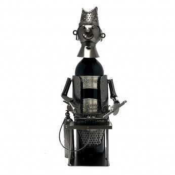 Cadou pentru Bucatar suport vin metalic