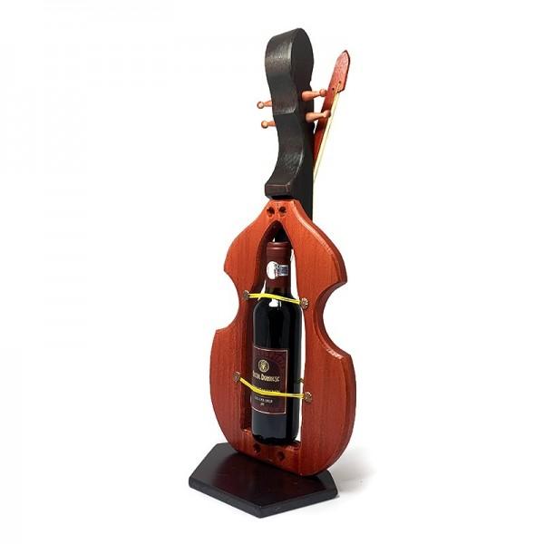 Suport lemn in forma de vioara cu vin nobil