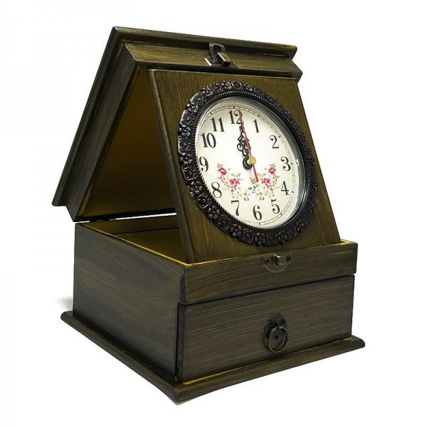 Cutie de bijuterii cu ceas vintage